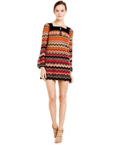 M Missoni Zig-Zag Knit Shirt Dress <3