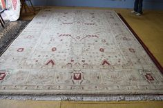 Beautiful Oushak hand knotted area rug by legacyrugs on Etsy