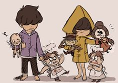 little nightmares runaway kid and six Little Nightmares Fanart, Runaway Kids, Videogames, Golf Videos, Indie Games, Yandere, Cute Art, Games For Girls, Scary