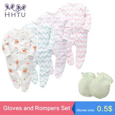 HHTU Baby Rompers Sets New Newborn Baby Boys Girls Romper Clothes Long Sleeve Infant Product Cotton Spring Lovely Higt Quality