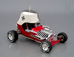 Built up Red Baron by Monogram.  Most car models are 1/24 scale.