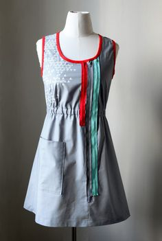 mixed media dress  CUSTOM COLOR SIZE by cristinapires on Etsy, €80.00