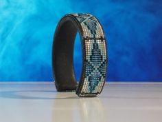 Everlasting Life  American Indian Beaded Cuff Bracelet