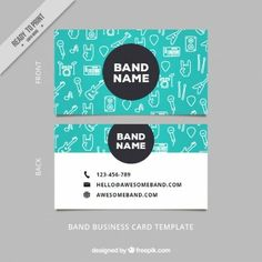 Sketches musical elements business card
