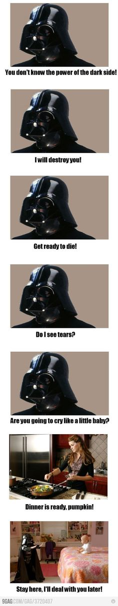 I am so going to dress up my kids as Darth Vaders. Not just for Halloween either.