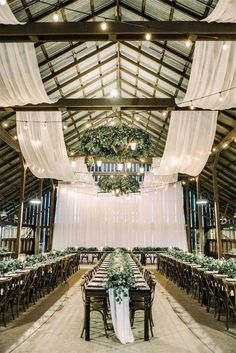 30 Rustic Barn Wedding Reception Space with Draped Fabric Decor Ideas Indoor Wedding Ceremonies, Wedding Ceremony, Church Wedding, Barn Wedding Venue, Wedding Receptions, Outdoor Ceremony, Drapery Wedding, Barn Wedding Lighting, Wedding Events
