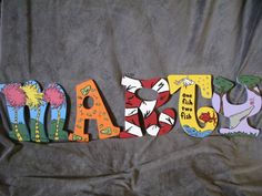 Dr. Seuss Hand Painted Letters