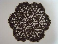 Carpeta circular calada, con esquema. (Crochet a little)