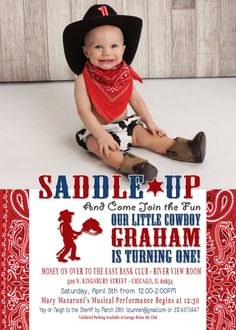 Printable Cowboy First Birthday Photo by RandRretailtherapy