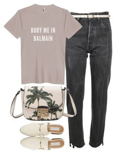 """Untitled #3876"" by plainly-marie ❤ liked on Polyvore featuring Vetements, Steve Madden, Dorothy Perkins and Balmain"