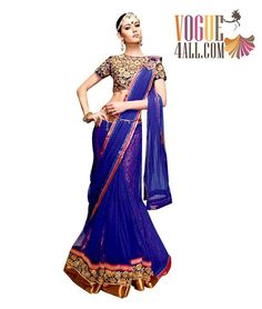 ### NAVY BLUE COLOR DESIGNER SAREE AT MOST AFFORDABLE PRICE ONLINE ###