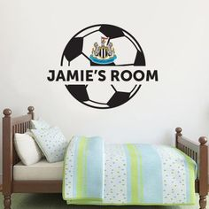 01455f61e9e Newcastle United Football Club Personalised Ball Crest and Name & Wall  Sticker Set Vinyl,