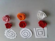 Paper Flowers Craft, Felt Flowers, Flower Crafts, Diy Flowers, Fabric Flowers, Felt Crafts, Diy And Crafts, Paper Crafts, Diy Bow