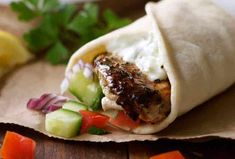 The marinade for this Greek Chicken Gyros recipe is so good I use it even when I'm not making gyros! This is super fast and easy too. Chicken Gyro Recipe, Chicken Gyros, Chicken Recipes, Chicken Souvlaki, Chicken Wraps, Turkey Recipes, Recipetin Eats, Greek Chicken, Chicken Rice