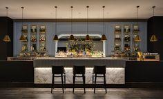 Intercontinental Hotel lighting design by Electrolight Cafe Bar, Cafe Restaurant, Restaurant Design, Modern Restaurant, Bar Lounge, Great Barrier Reef Australia, Brisbane, Australia Wallpaper, Restaurants