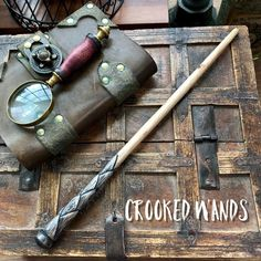 Magic Wand Death Eater Wizard Witch With Wooden Stand #1465