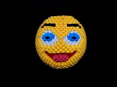 3D origami Smiley face 2 tutorial || DIY paper Smiley face 2 - YouTube