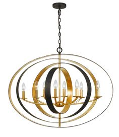 1STOPlighting.com | Luna - Eight Light Oval Chandelier