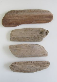 4 Flat & Oblong Driftwood Pieces Drift Wood Plank Fragments - DIY Driftwood Inspirational Sign Drift Wood Blank Sign by LonelyBeach on Etsy
