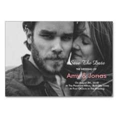#Black & White Photo Wedding Save The Date Card - #savethedate #wedding #love #card #cards #invite #invitation