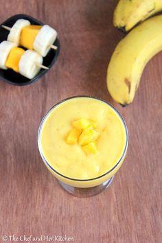Mango Banana Smoothie | Easy Smoothie Recipes