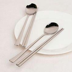Korean Chopsticks & Spoon Silverware Set