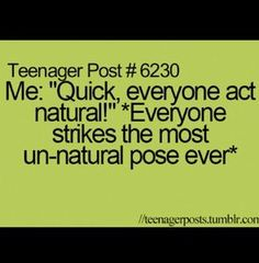 I love that but it's stupid how we all do that