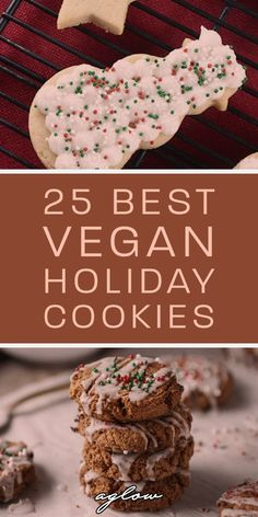 25 Best Vegan Holiday Cookie Recipes - Thanksgiving & Christmas Cookies are not only delicious, but they make the perfect snack during the holiday season. From pumpkin, to cinnamon, bake some cookies Vegan Christmas Cookies, Holiday Cookies, Christmas Baking, Christmas Christmas, Thanksgiving Holiday, Vegan Christmas Desserts, Holiday Treats, Holiday Cookie Recipes, Chocolate Cookie Recipes