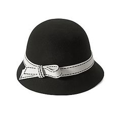 San Diego Hat Co.® Cloche Hat with Bow - Black  44.80 1920s Hats 4ff73041cf55