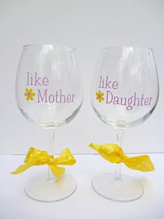 Mother's Day Gift / Mother and Daughter Wine by BonniesBlossoms