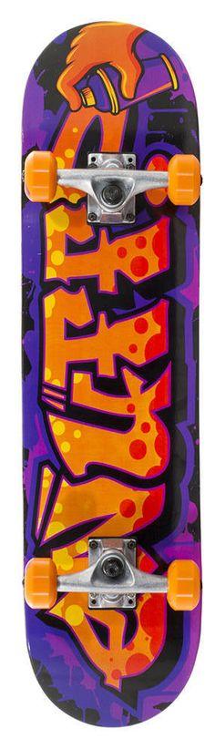 Enuff Graffiti II Skateboard Komplettboard | SkatePro Graffiti, Skateboard Shop, Complete Skateboards, Orange And Purple, Bunt, Stuff To Buy, Anastasia, Products, Skateboarding