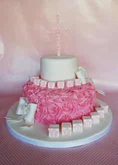 girls christening cake.Kaneen Cakes