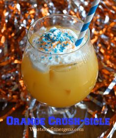 Denver Bronco Cocktail!  Tastes like a Creamsicle!  Go Broncos!