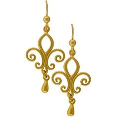 24K Gold Plated Sterling Silver Openwork Fleur de Lys Earrings $72.80 Retail http://www.ninadesigns.com/bali_bead_shop/24k_gold_plated_sterling_silver_openwork_fleur_de_lys_earrings/gmt525/details# See website for Whoelsale pricing.