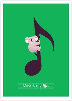 """Music Is My Life"" art print. $28"