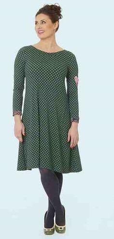 a823c207bceb Køb Du Milde kvalitetskjole Inges Impression i grøn. Farmormormor · Kjoler