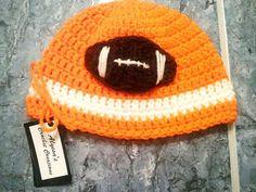 Football Applique Beanie by alyssastewart on Etsy, $15.00