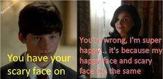 Once upon a time season 4 episode 7: Regina's happy and scary face