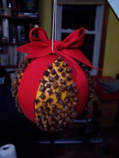 "One whiff of the wonderful scent of a pomander ball is all it takes to get me humming Christmas songs and dreaming of going ""home for the holidays."" Pomander balls are a Colonial American Christmas tradition, and my mother had us make them for all of our relatives every year. They make very unique gifts, and are great conversation starters as well."