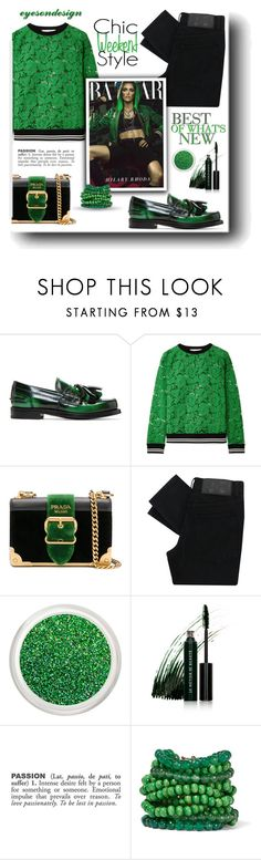 """""""Tassel Loafers"""" by neverboring ❤ liked on Polyvore featuring Prada, Valentino, Cheap Monday, Le Métier de Beauté, ADZif and Rosantica"""