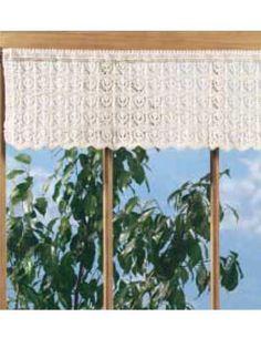 Home Decor Knitting - Knitting Patterns for Windows, Doors & Floors - Lotus Lace Valance