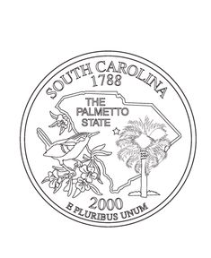 1000 images about usa coloring pages on pinterest for South carolina coloring pages
