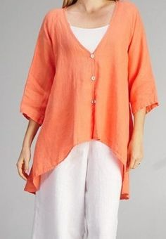 Tops ~ Hankercheif Linen - Your Online Linen Clothing Boutique