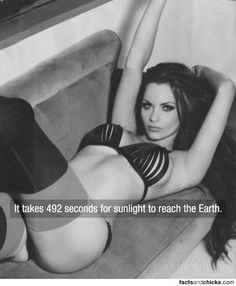 it take 492 second for sunlight to reach the earth...was always curious about that :)