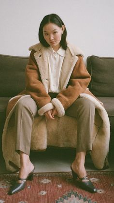 Sheepskin Coat, Style, Fashion, Swag, Moda, Shearling Coat, Fashion Styles, Fashion Illustrations, Outfits