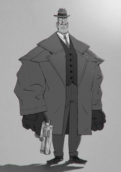 """Loosely based this guy off of """"the Dane"""" from Miller's Crossing because he is one bad dude. Character Drawing, Character Concept, Concept Art, Cartoon Sketches, Cool Sketches, Yakuza Anime, Mafia, The Art Of Storytelling, Graffiti"""