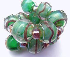 PTD Handmade Lampwork Glass Beads Gaia Aurae Seascape SRA