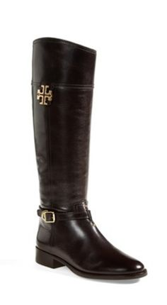 Classic riding boots by Tory Burch http://www.revolvechic.com/