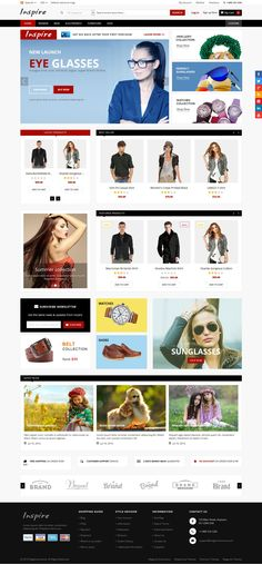 Inspire is a responsive multipurpose #Magento theme which is fully customizable and suitable for any kind of Magento store on any device. #webdesign #shop