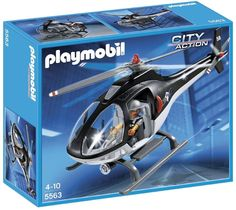 Toys: Playmobil 5563 City Action Police Tactical Unit Helicopter: Amazon.co.uk: Toys & Games